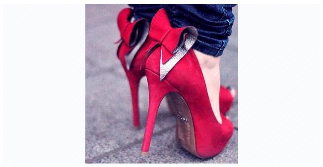 94cf237a236e ... chaussure rouge noeud papillon