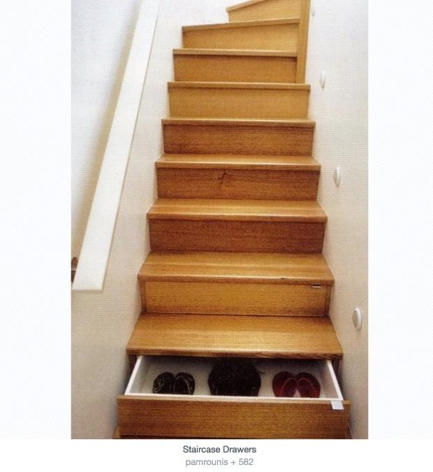 Rangement chaussure escalier