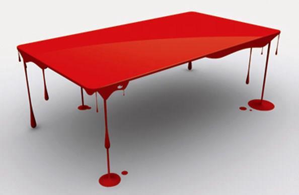 Table Design Peinture Rouge Ideal Mag