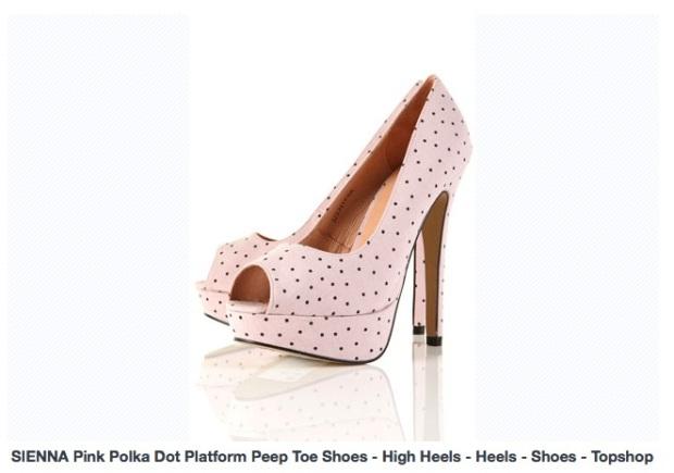 Chaussure Sienna Pink Polka Topshop