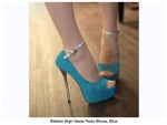 Chaussure Stiletto Party Blue