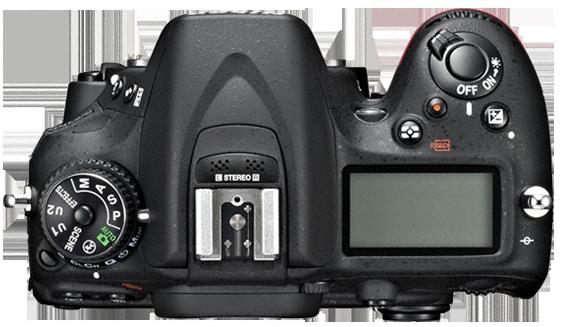 Nikon D7100 vu de dessus