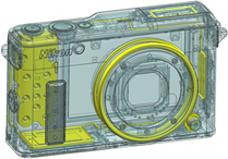Nikon 1 AW1 camera design