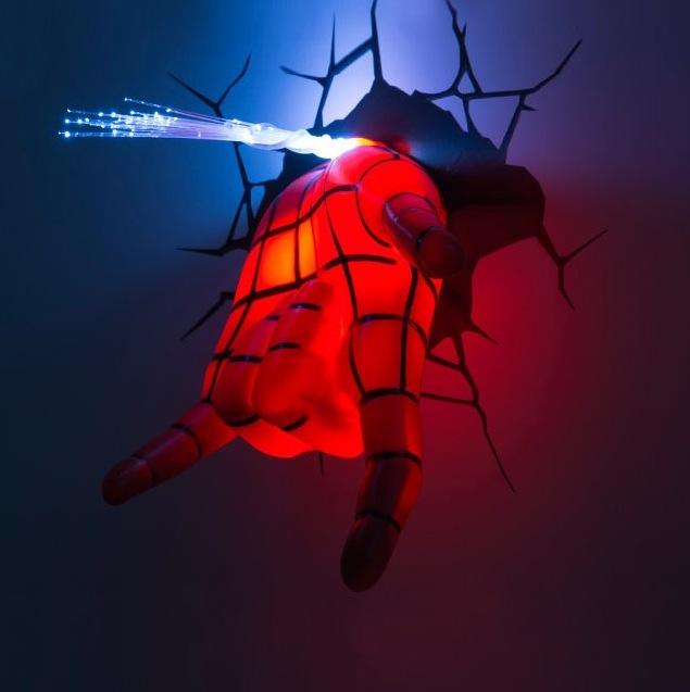 lampe spiderman spidey hand 3d deco light blog de l. Black Bedroom Furniture Sets. Home Design Ideas