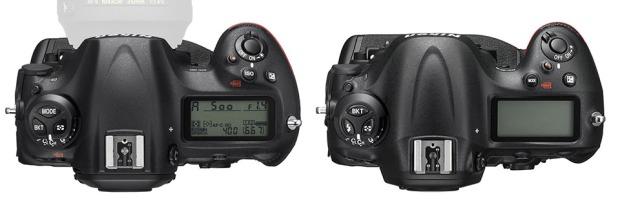 Nikon-D5-Top-vs-D4s-Top